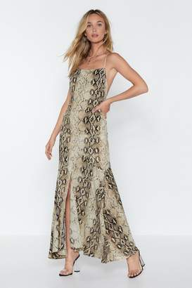 Nasty Gal Queen Cobra Snake Maxi Dress