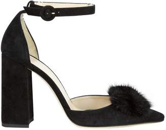 Frances Valentine Black Suede Heels