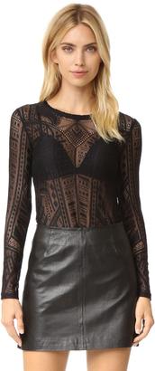 BCBGMAXAZRIA Lace Blouse $98 thestylecure.com