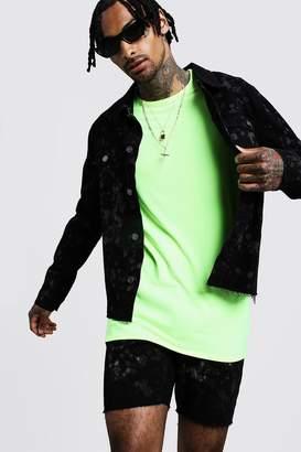 boohoo Bleach Effect Distressed Denim Jacket