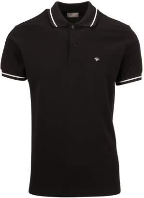 Christian Dior Bee Embroidered Polo Shirt