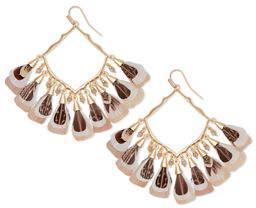 Kendra Scott Raven Feather & Stone Earrings