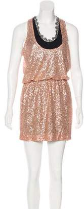 Robert Rodriguez Sequined Silk Dress