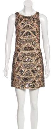 AllSaints Hand Embellished Sleeveless Mini Dress