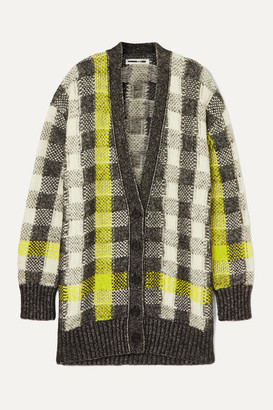 McQ Checked Knitted Cardigan - Gray