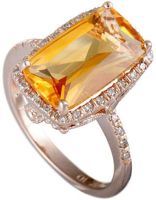 Generic Gemstones 14K Rose Gold 0.14 Ct. Tw. Diamond & Citrine Ring