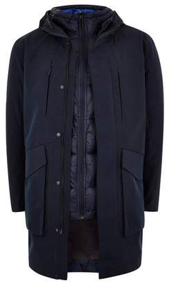 Topman Mens Navy SELECTED HOMME 3 in 1 Technical Jacket