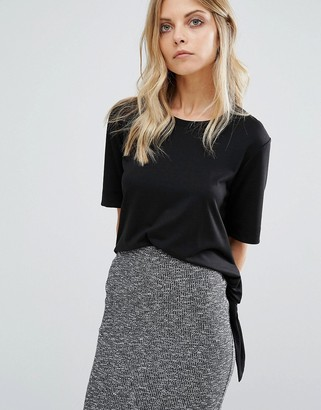 Whistles Side Tie T-Shirt $91 thestylecure.com