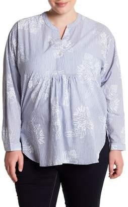 Joe Fresh Print Tunic Shirt (Plus Size)