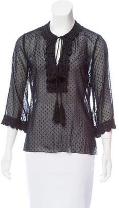 Andrew Gn Textured Polka Dot Top
