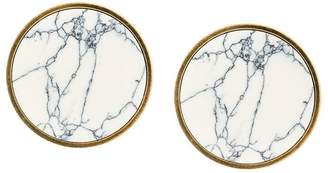 Balenciaga marble-effect large earrings