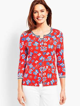 Talbots Butterfly Charming Cardigan