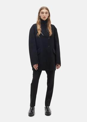 Yang Li Attitude Virgin Wool Coat Black