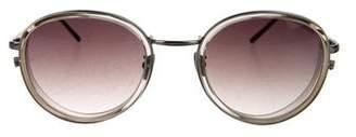 Linda Farrow Gradient Round Sunglasses