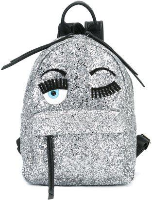 Chiara Ferragni 'Flirting' glitter backpack $558.04 thestylecure.com