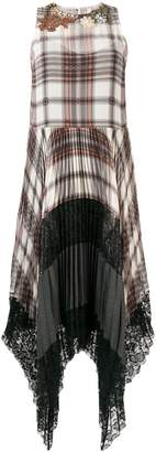 Antonio Marras plaid flared midi dress