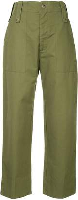 Bassike drill tapered utility trousers