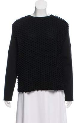 Paco Rabanne Scuba Knit Textured Sweater