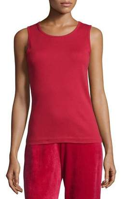 Joan Vass Soft Scoop-Neck Tank, Plus Size