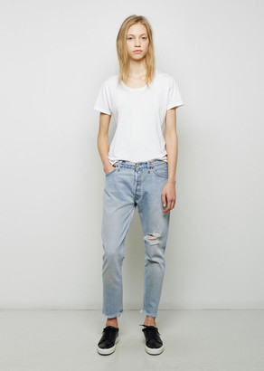 RE/DONE Relaxed Crop Shred Jean $280 thestylecure.com