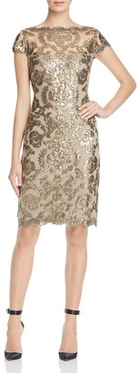 Tadashi Petites Sequined Lace Dress $328 thestylecure.com
