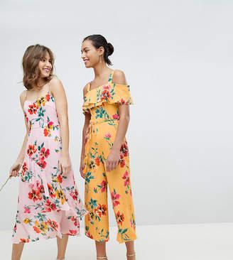 Whistles Exclusive Floral Wide Leg Bridesmaid Jumpsuit