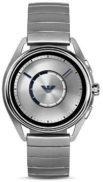 Emporio Armani Tech Stainless Steel Mono-Link Bracelet Touchscreen Smartwatch, 43mm