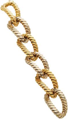 Van Cleef & Arpels Vintage 18K Yellow And White Gold Link Bracelet