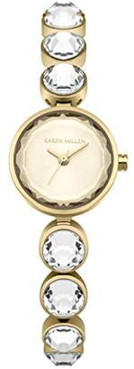 Karen Millen Women's Quartz Gold-Tone and Stainless Steel Casual Watch