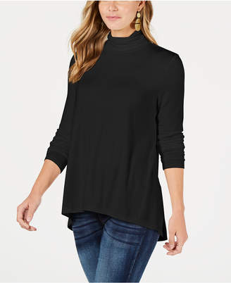 Style&Co. Style & Co Petite Mock-Neck Top