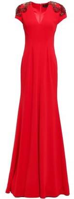 Jenny Packham Embellished Stretch-crepe Gown