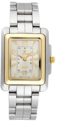 Croton Equator Stainless Steel and 18K Yellow Gold Quartz 26mm Womens Watch