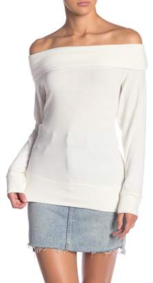 Cupcakes And Cashmere Brooklyn Off-the-Shoulder Sweater