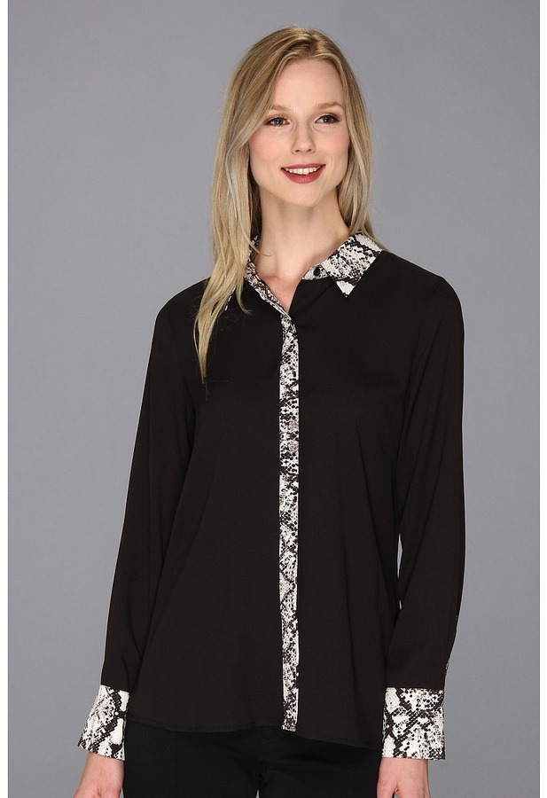 Calvin Klein Combo Placket Blouse