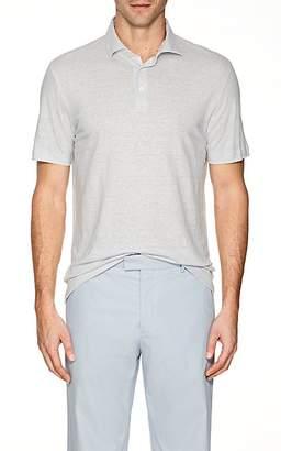 Napoleonerba Men's Slub Linen Polo Shirt