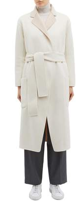 EQUIL 'Alaska' reversible belted wool-cashmere melton coat