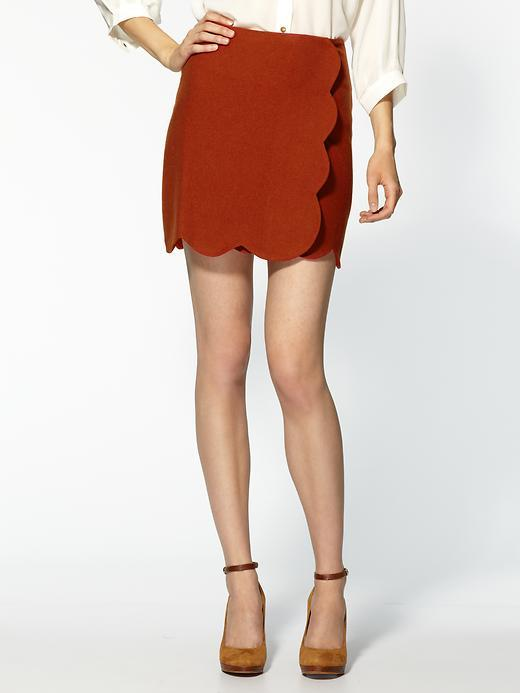 Pim + Larkin Scalloped Wrap Skirt