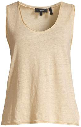 Theory Relax Linen Tank Top