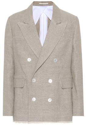 Golden Goose Double-breasted linen jacket