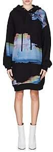 Maison Margiela Women's Graphic-Print Cotton-Blend Sweatshirt Dress-Black