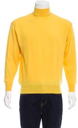 Versace V2 Wool Mock Neck Sweater