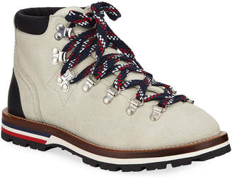 Moncler Blanche Scarpa Lace-Up Boots, White