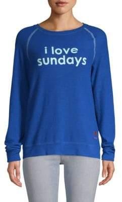 Peace Love World I Love Sundays Raglan-Sleeve Top
