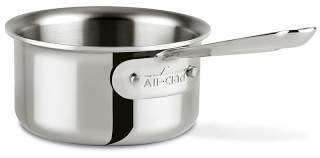 All-Clad D3 Tri-Ply Stainless-Steel Butter Warmer, 1/2-Qt.
