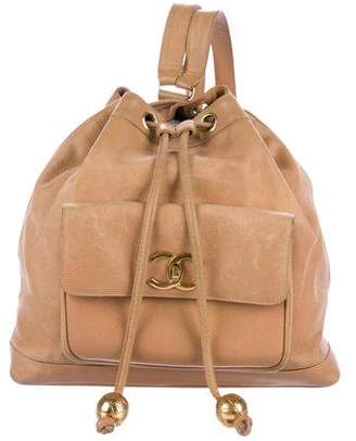 Chanel Caviar Drawstring Backpack