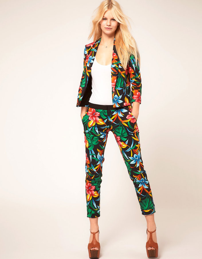 River Island Floral Crop Pants