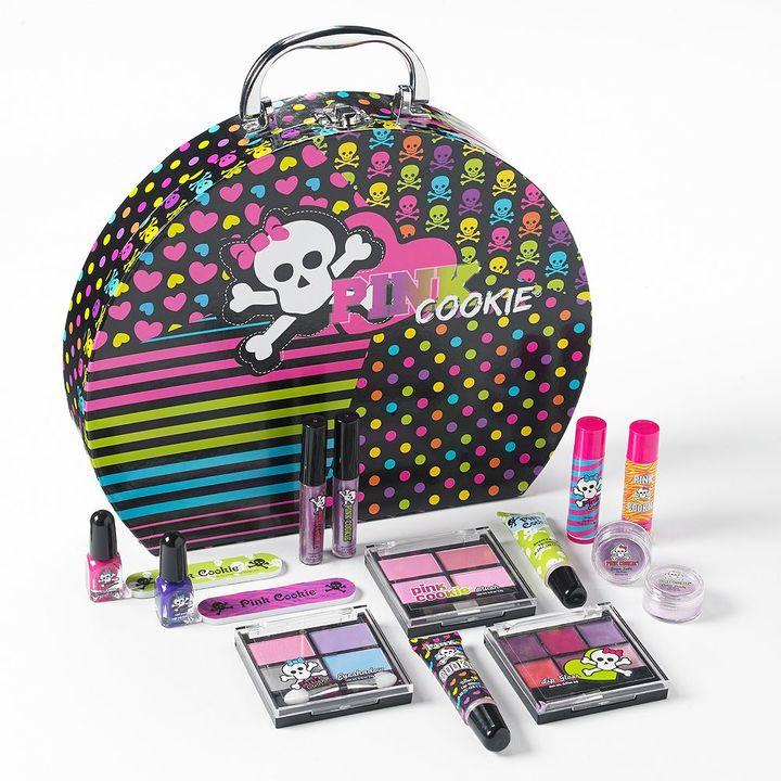Pink Cookie round glam make-up case