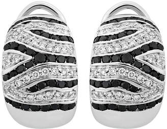 Damiani Estate 18K White Gold Black Diamond Earrings