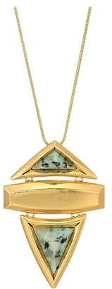 House Of Harlow Pyramid Stone Pendant Necklace Necklace