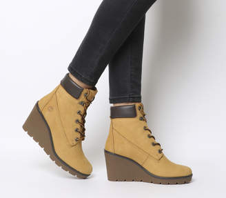 Timberland Paris Height 6 Inch Wedges Wheat